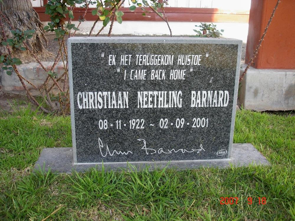Dr Barnard's Grave site