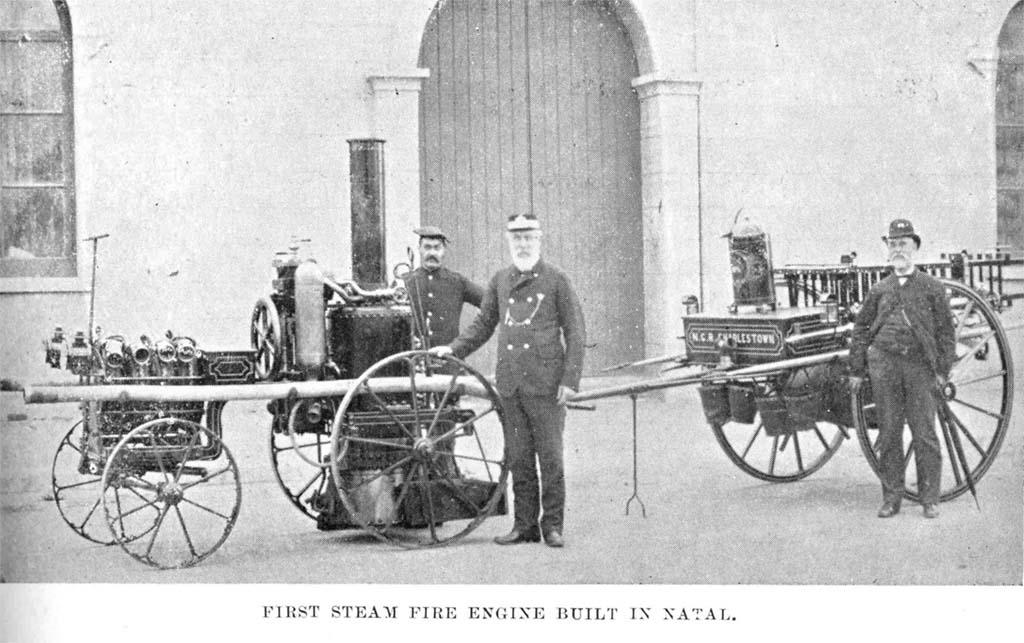 Steam fire engine image