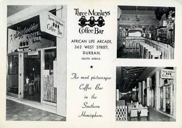 Three Monkeys Coffee Bar African Life Arcade