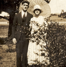 Mary and Edward McCann at their wedding.