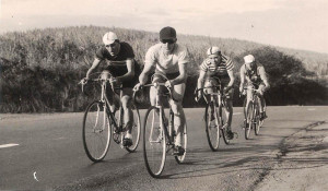 Kings Park Cycling Club members racing up the hills in the early 1950s.