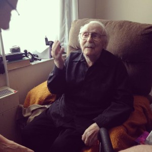 Janusz Warunkiewicz February 17, 1910 - January 16, 2015. Pictured at home in Montreal shortly after his 104th birthday.