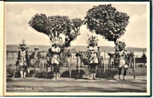 Ricksha pullers postcard circa 1929.