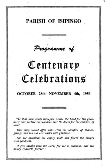 Parish of Isipingo Centenary Celebrations Programme image