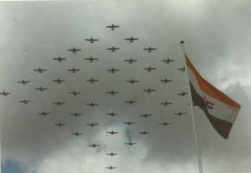 The flypast to commemorate the Harvard's 50 years of service with the SAAF. image