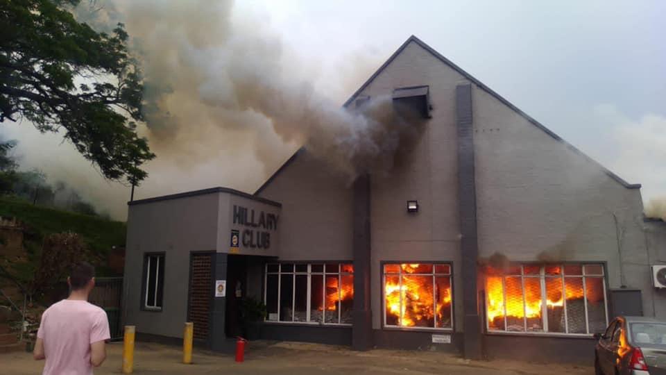 Hillary Club fire